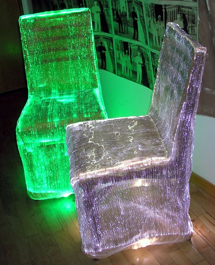 L26 - Luminous Chair Cover 4 (fiber optic fabric)...awesome glowy fabric!