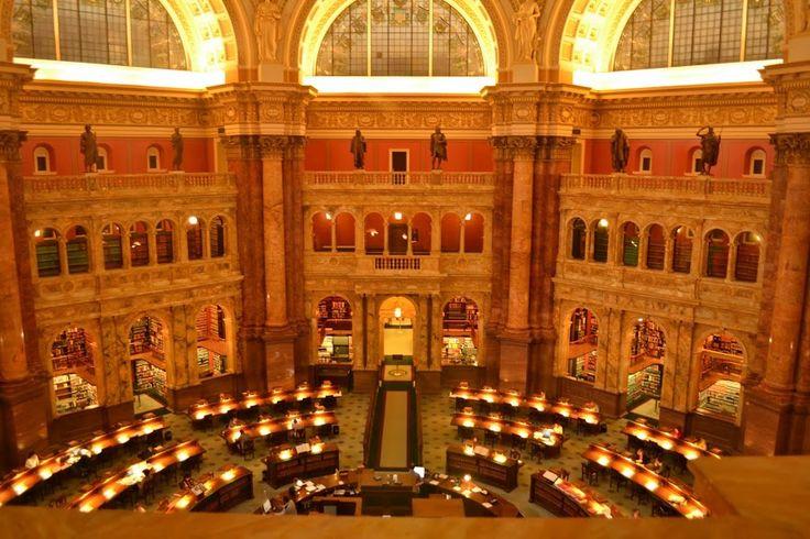 Library of Congress, Washington DC (Библиотека Конгресса США, Вашингтон, округ Коламбия)