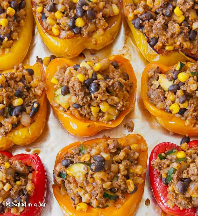 Southwestern Stuffed Bell Peppers Without Rice Recipe Stuffed Peppers Southwestern Recipes Stuffed Bell Peppers