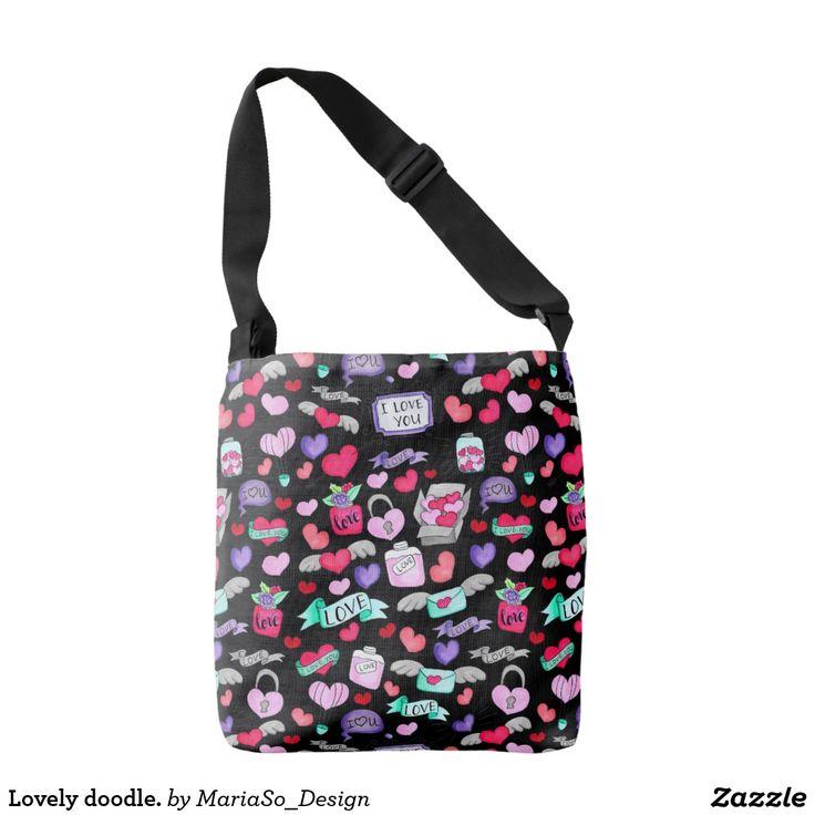 Lovely doodle. crossbody bag