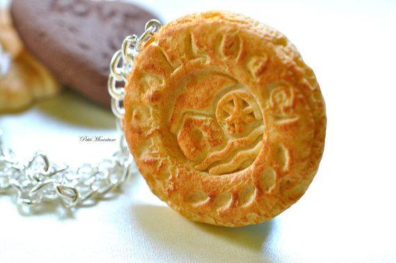 Biscotto pendente collana collana biscotto di PetitMiniatures