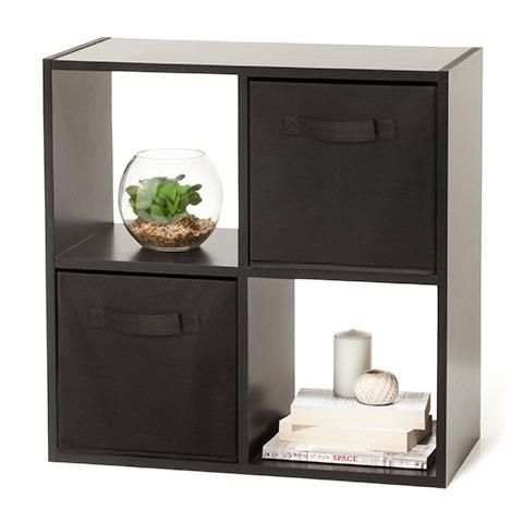 4 Cube Unit Black $19  homemaker brand Could replace the chocolate ones in my room