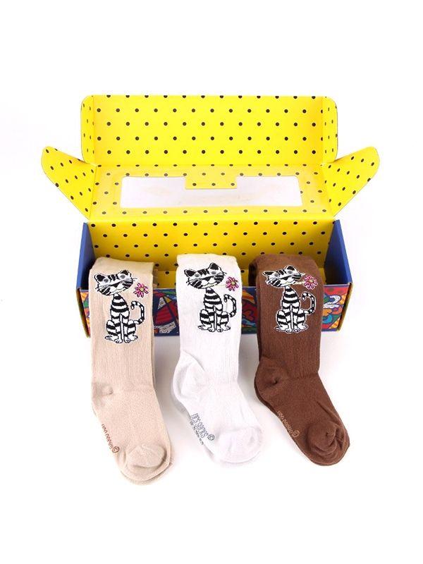 3'lü Kedi Desenli Kutulu Çorap :: Zinde Market