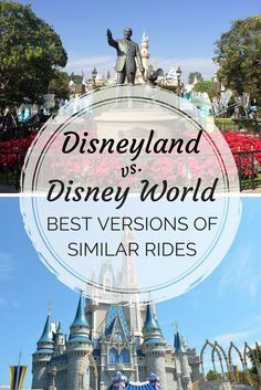 Disney Attraction Prize Fight: Disneyland vs. Walt Disney World Versions of Shared Rides - Which Disney park has the better version of Pirates, Space Mountain, and many more attractions?