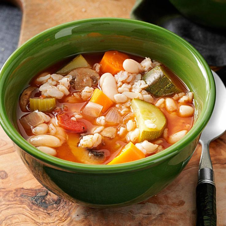 Slow & Easy Minestrone Recipe -Hot soup on a cold day is something I just can't get enough of. It's a snap to put together, and I don't have to wash pots and pans after a relaxing meal. — Sally Goeb, New Egypt, New Jersey