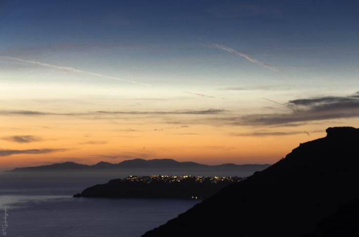 Sunset by Fira - looking to Ia