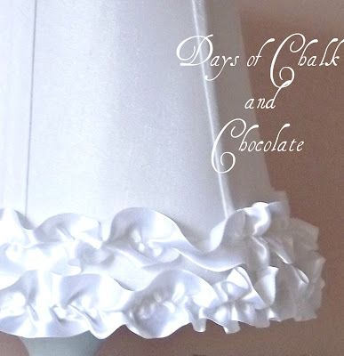 How to make ruffles and add to lampshade