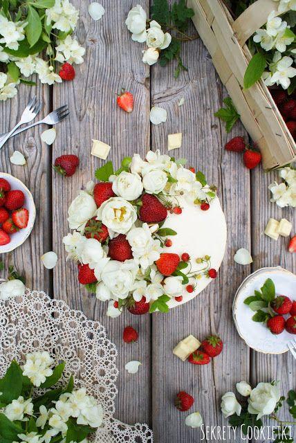 Sekrety Cookietki: Tort truskawkowy z miętą i imbirem