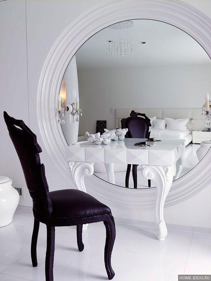 Туалетные столики с зеркалом: фото