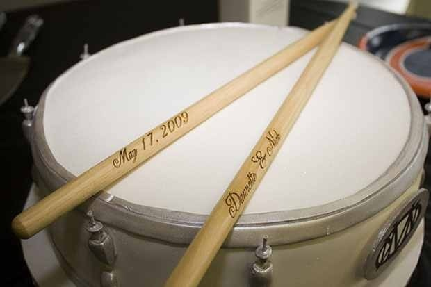 Names & Dates on the drum sticks, LOVE IT!!