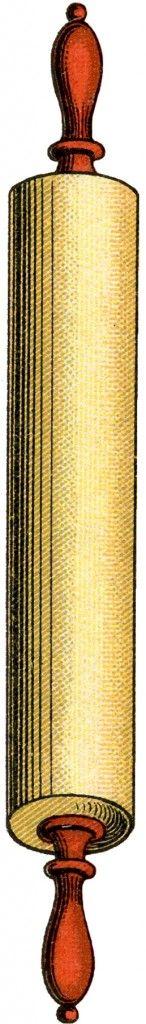 Free Vintage Rolling Pin Image