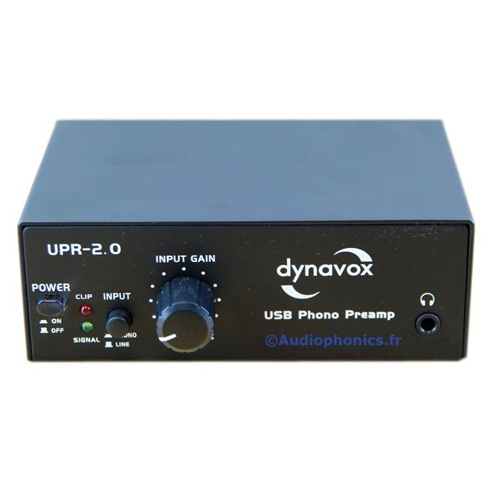 Préampli Phono Dynavox UPR-2.0 USB numérisation vynile (MM)