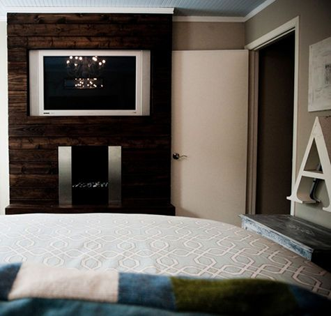 Love This Wood Tv Fireplace Feature Wall Interior