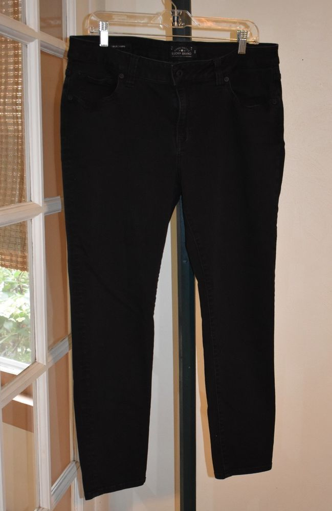 3073792dd76 Lucky Brand Jeans Womens 16 W 16W Ginger Skinny Boyfriend Slimming stretch  Black  fashion  clothing  shoes  accessories  womensclothing  jeans  ad ( ebay ...
