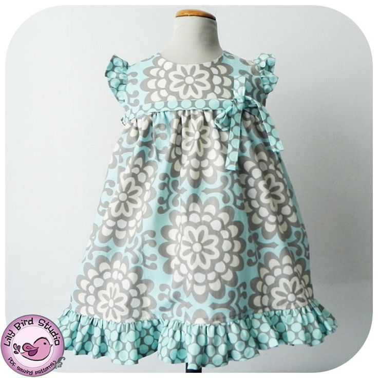 Birthday party dress PDF sewing pattern for intermediate sewers - wide ruffled skirt, ruffled sleeves, high waist, belt - 12 mths to 8 yrs. $6.90, via Etsy.