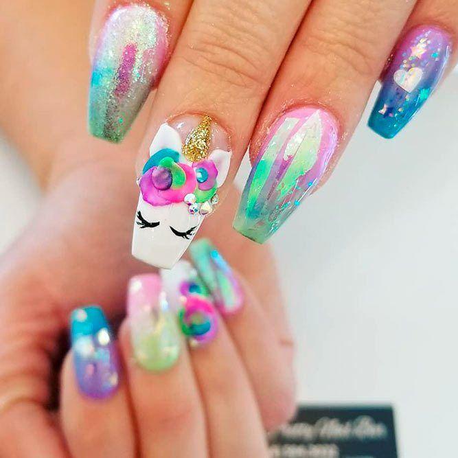 18 Inspirational Unicorn Nail Designs Unicorn Nails Designs