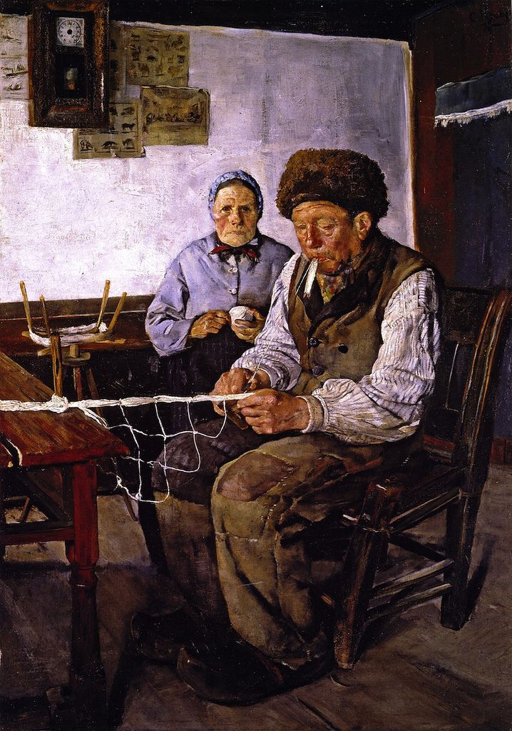 Christian Krohg - The Net Mender