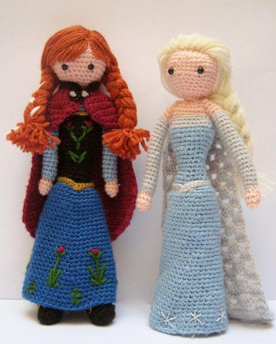 Frozen Princess Elsa & Anna PATTERNS Crochet by FairyDustPatterns
