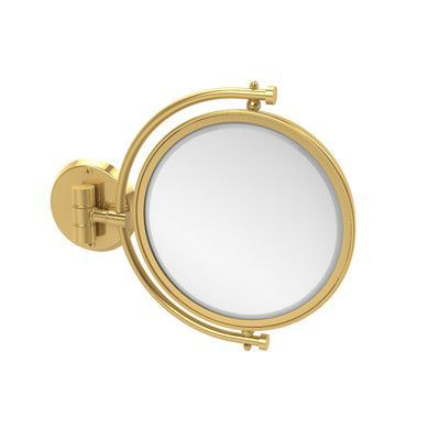 Allied Brass Universal Extendable Mirror Magnification: 4x, Finish: Polished Brass