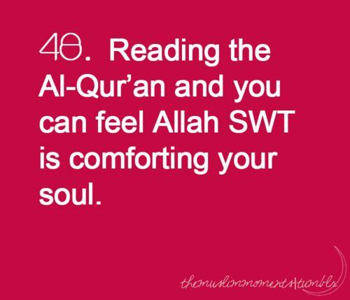 Quran comforts the soul