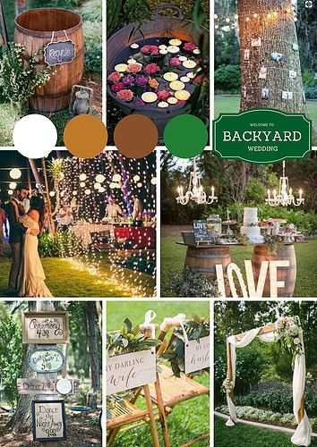 Backyard wedding is comparatively cheap and affordable for the couples who are on the budget