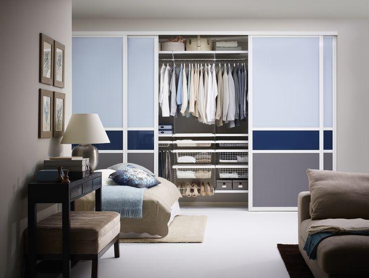 Stora sovrum behöver stora garderober, mixa färgerna på din garderob!