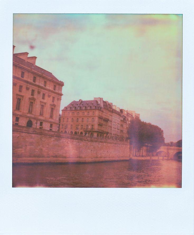 Polaroid of Paris from the Seine river — English Speaking Wedding & Engagement Photographer, Paris, France. www.ianholmes.net