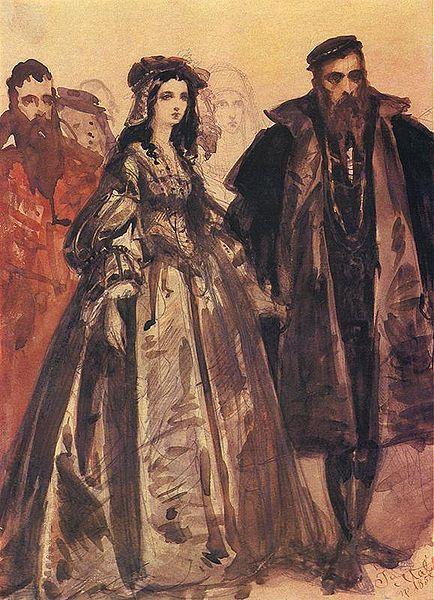 Zygmunt II August presents at the court of Barbara Radziwiłłówna    Jan Matejko, 1859
