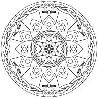 Design, print and color  your own mandalas online. download as pdfs. Nice. colormandala.com
