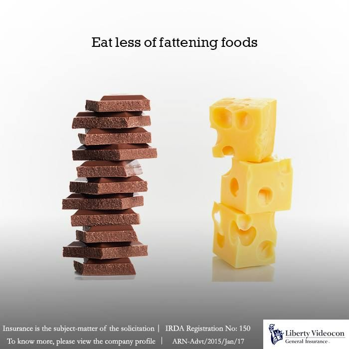 Chop down high calorie foods like chocolate and cheese into bite sized pieces. It'll satisfy your cravings and keep you healthy.