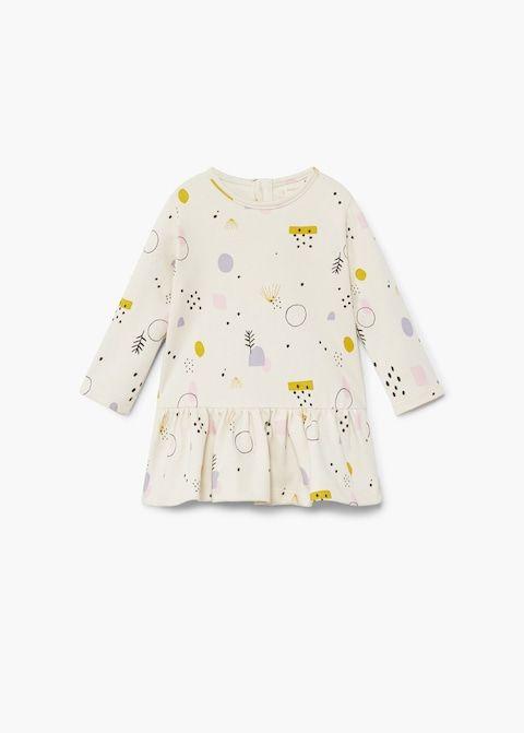 Mini Boden baby top grey cotton bird print top new age girls 0 3 6 months