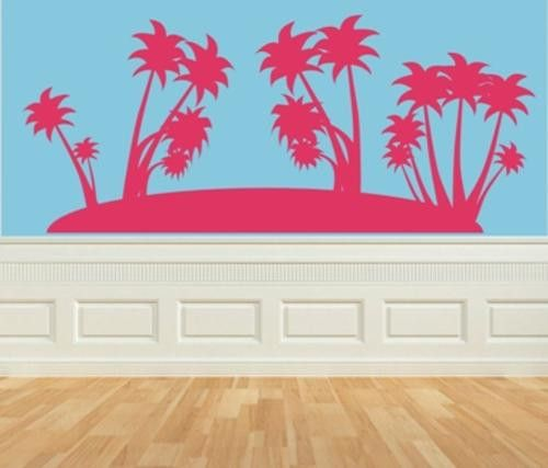 VINYL DECAL PALM TREES TYPE 1 WALL ART STICKER