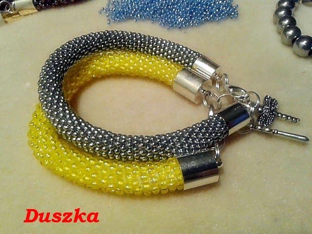 moje dziergane pasje: Na żółto, srebrno ...