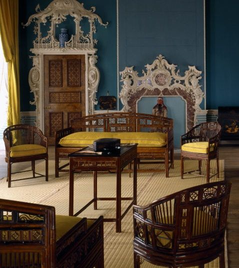 Imitation Bamboo Furniture In The Chinese Room, Claydon House,  Buckinghamshire, C.1769
