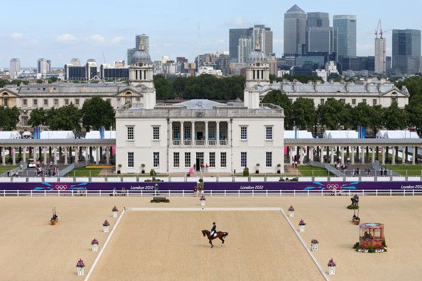 Boyd Martin of the United States riding Otis Barbotiere competes in the Dressage Equestrian event on Day 1 of the London 2012 Olympic Games at Greenwich Park on July 28, 2012 in London, England.