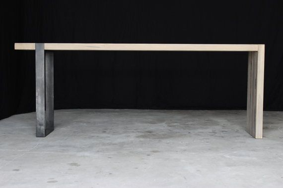 7' industrial modern entry table by seventeen20 on Etsy