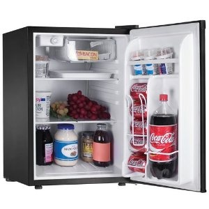 haier hnse025bb 2.5 cubic foot refrigerator freezer black