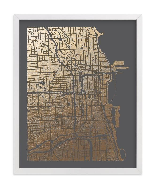 Chicago Map Wall Art | Wall art designs, Chicago and Walls