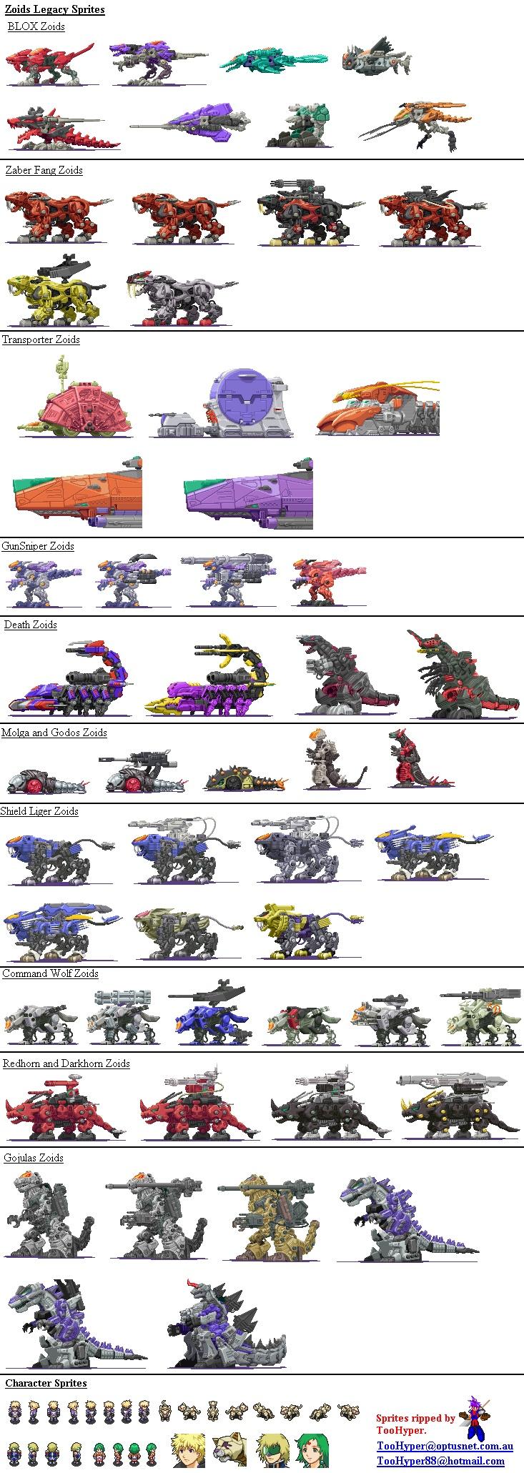 Juego para el GameBoy advance Llamado: Zoids Legacy (Estados Unidos) o Zoids Saga 2 (Japon).