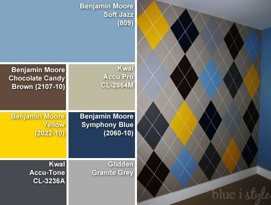 How to Paint an Argyle Wall With {Almost} No Math