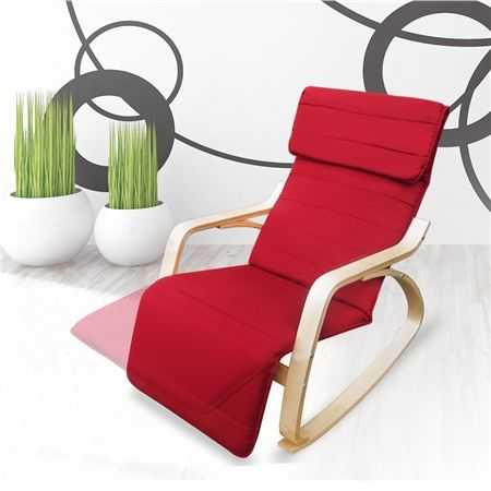 $135.95 - Red - Red Birchwood Rocking Chair with Cushion at CrazySales.com.au - Looking for a comfortable and attractive addition to any room in your home? Check out this new Red Birchwood Rocking Chair with Cushion!