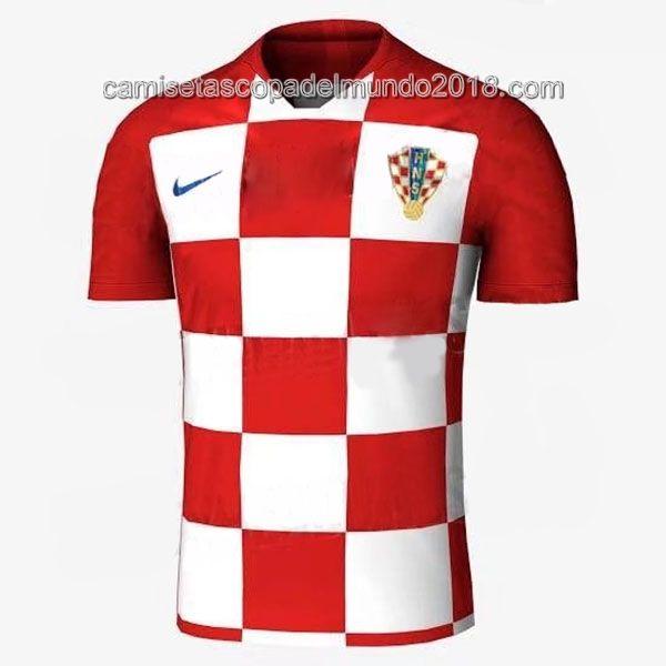 47414454e0f0f Primera Camiseta Seleccion Croacia Mundial 2018 ...