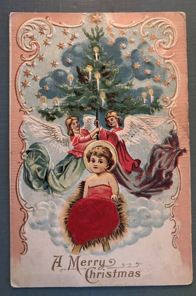 Beautiful Baby Jesus w/ Silk Applied Blanket -Vintage Christmas