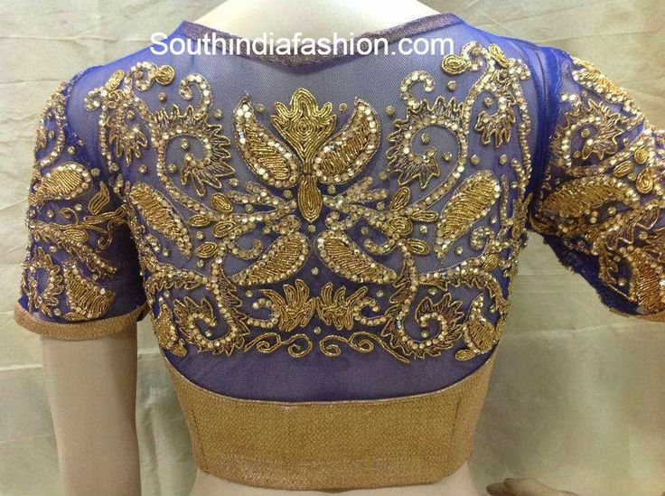 Beautiful High Neck Designer Blouse ~ Celebrity Sarees, Designer Sarees, Bridal Sarees, Latest Blouse Designs 2014