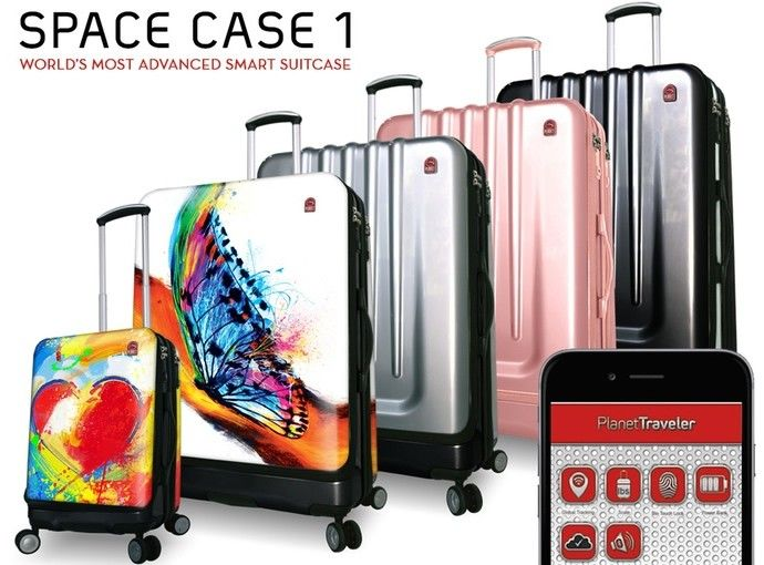 Introducing Space case 1 the last luggage you'll even buy complete with biometric lock, GPS, Bluetooth and more