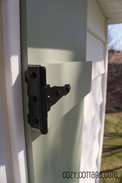 Diy Board And Batten Shutters With Faux Function Hinges