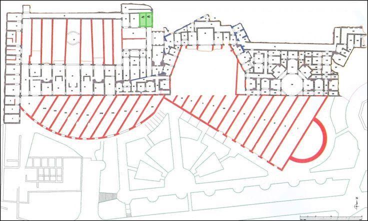 Localizzazione degli Ambienti 41 e 42 – Archivio SSBAR