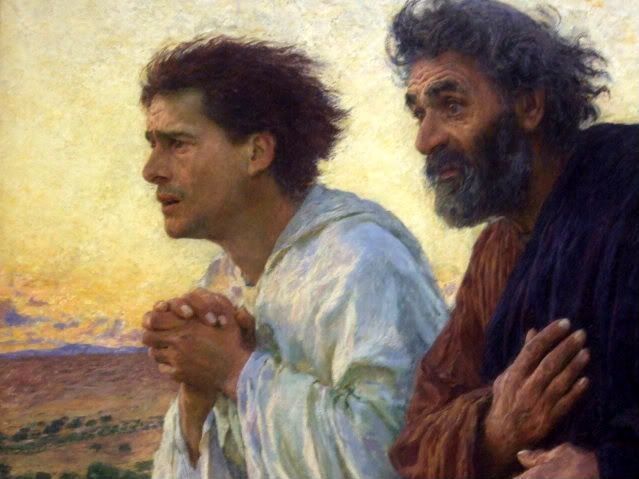 """The Disciples Peter and John Running to the Sepulchre on the Morning of the Resurrection"" by Eugene Burnand"