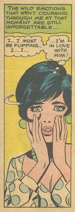 Vintage Romance Comic art - pencils by Ric Estrada