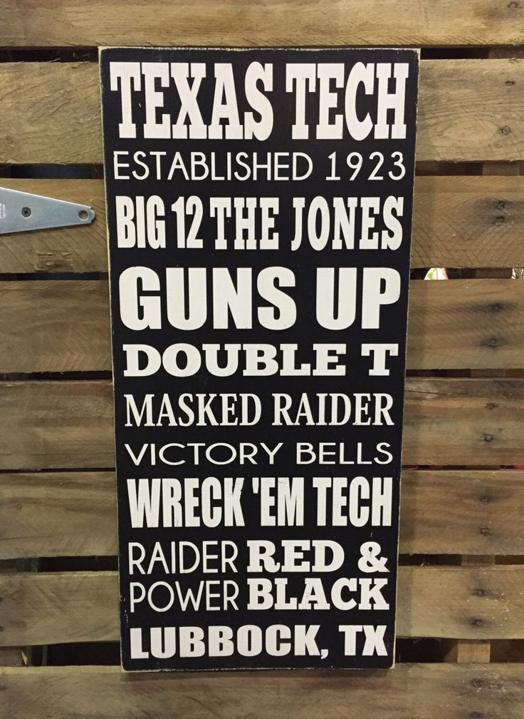 Texas Tech Hand Painted Wood Sign - Subway Style Sports sign - Man Cave decor - Boy's Room decor by BasementWorkshop1 on Etsy https://www.etsy.com/listing/259347071/texas-tech-hand-painted-wood-sign-subway